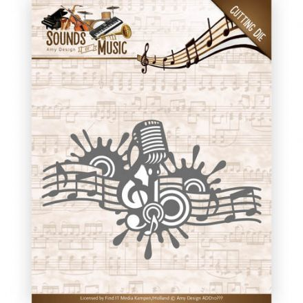 ADD10137 ~  Music Border ~ Sound of Music  ~ Amy Design